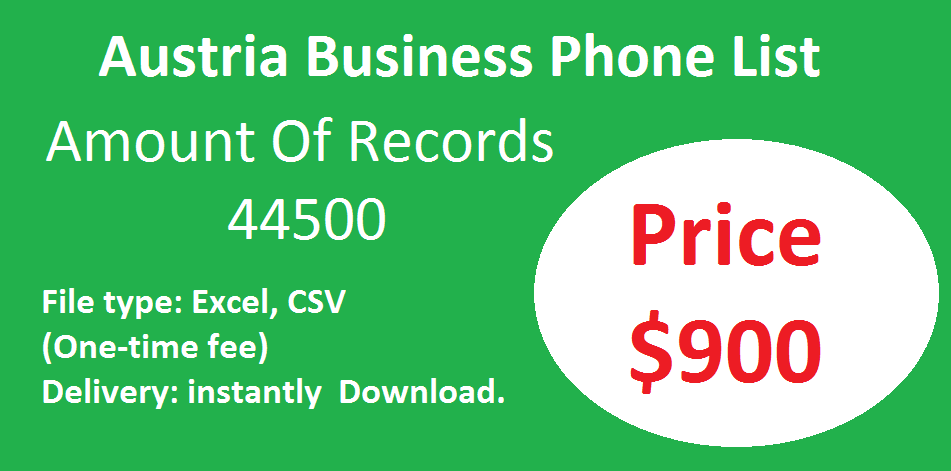 Austria Business Phone List