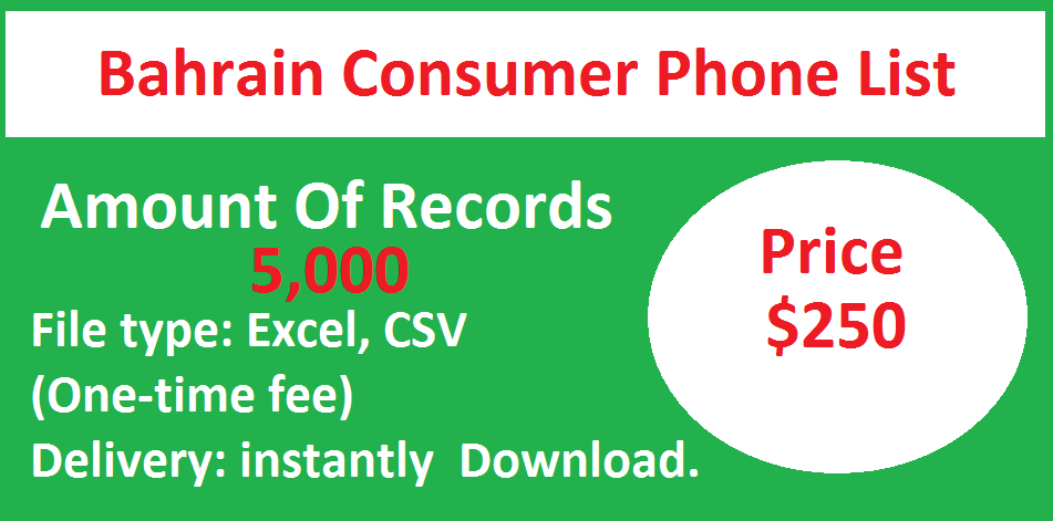 Bahrain Consumer Phone List