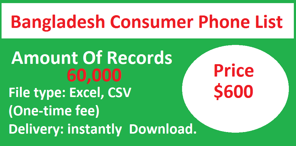Bangladesh Consumer Phone List