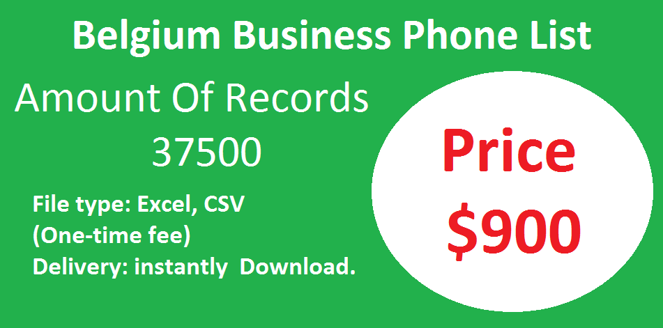 Belgium Business Phone List