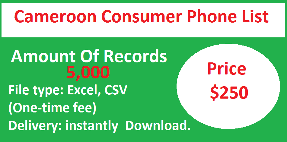 Cameroon Consumer Phone List