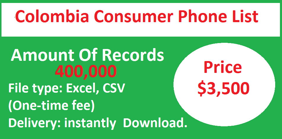 Colombia Consumer Phone List