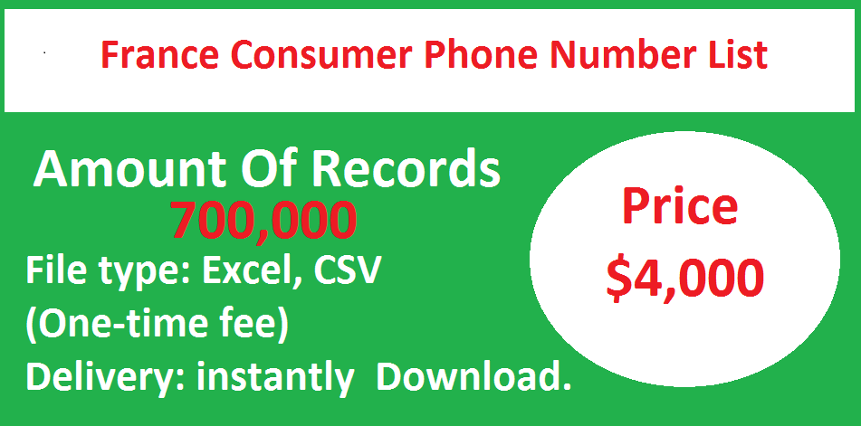 France Consumer Phone Number List
