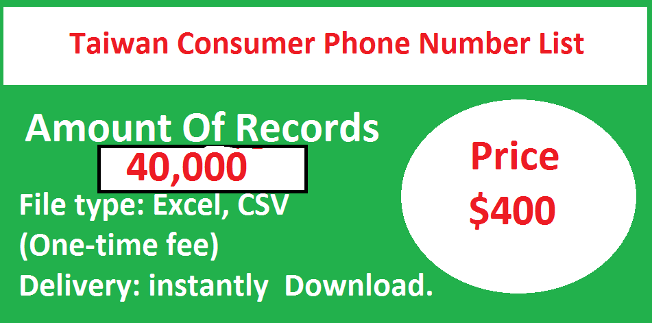 Taiwan Consumer Phone Number List