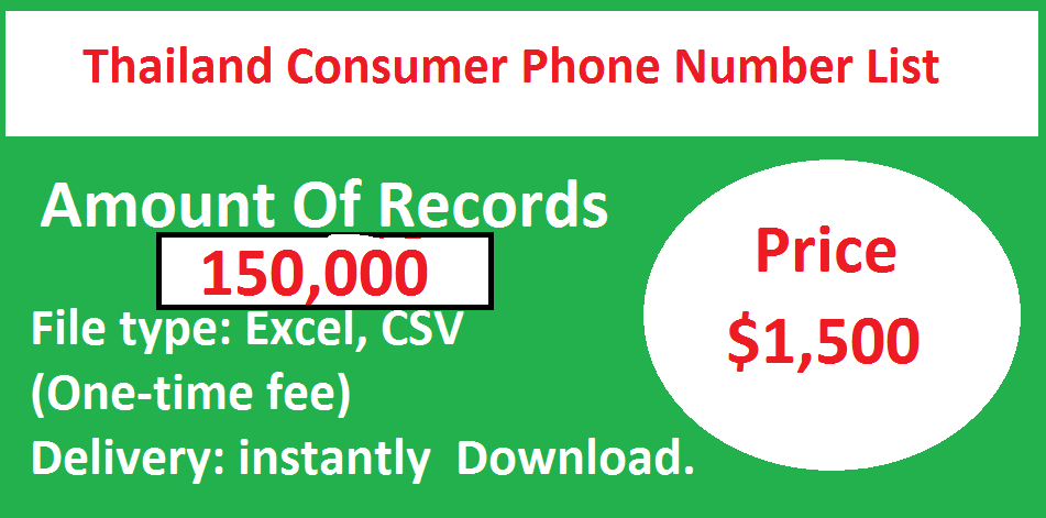 Thailand Consumer Phone Number List