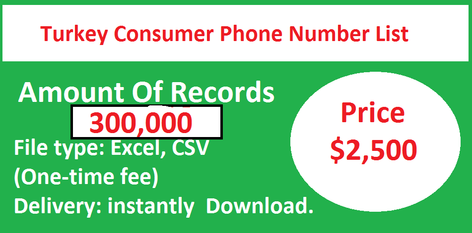 Turkey Consumer Phone Number List