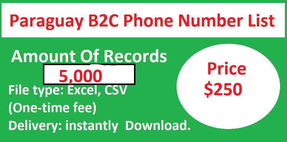 Paraguay B2C Phone Number List