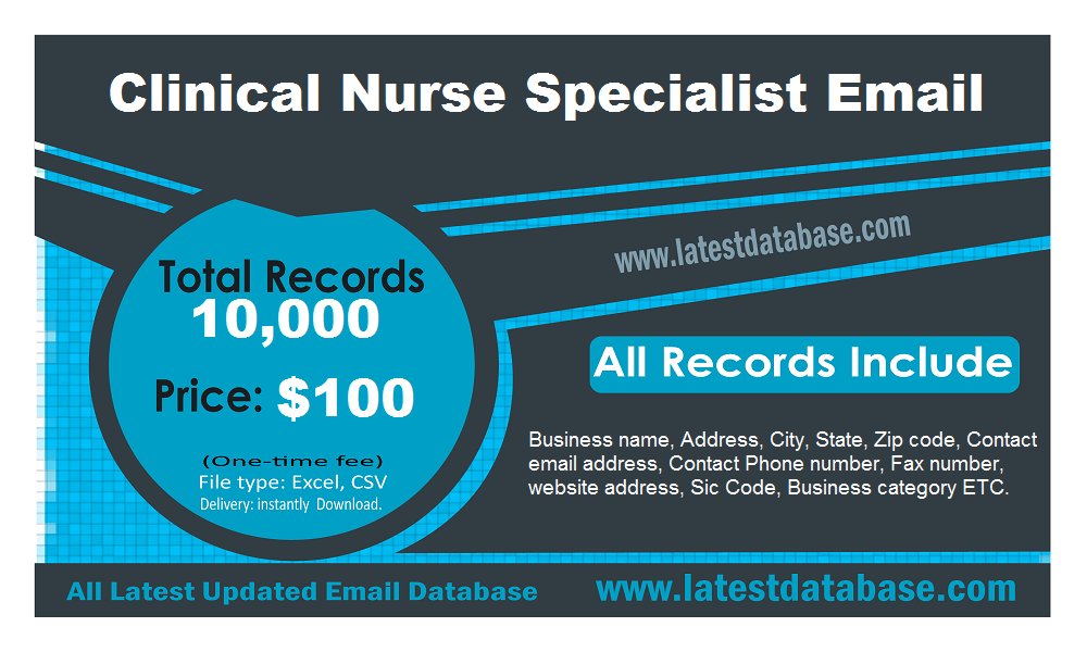 Clinical-Nurse-Specialist-Email-List