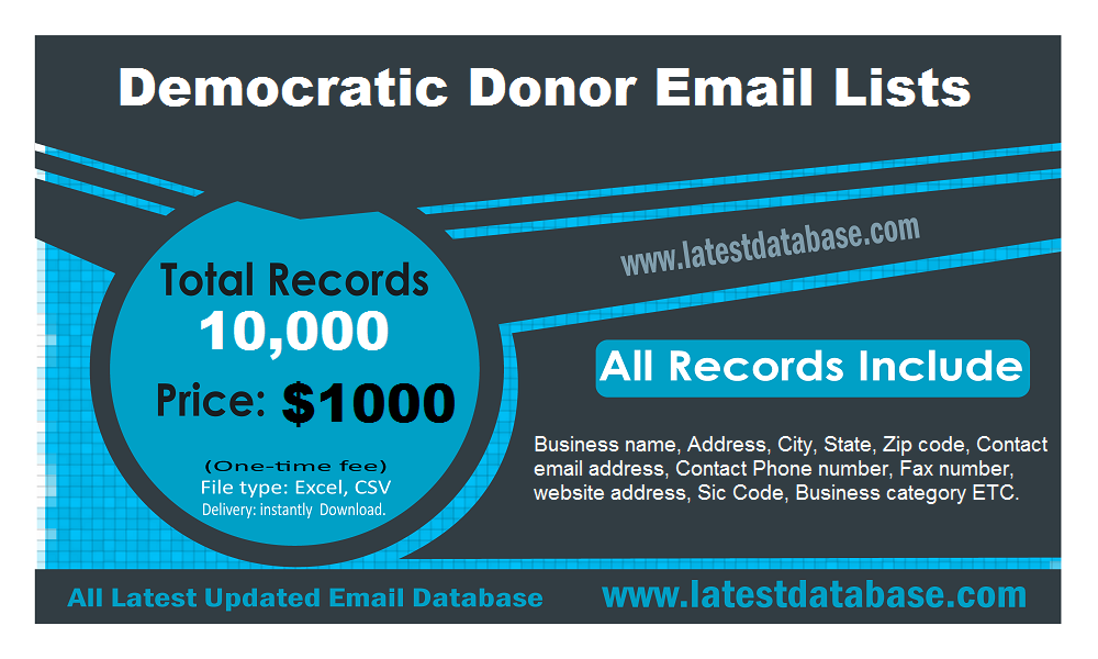 Democratic-Donor-Email-Lists
