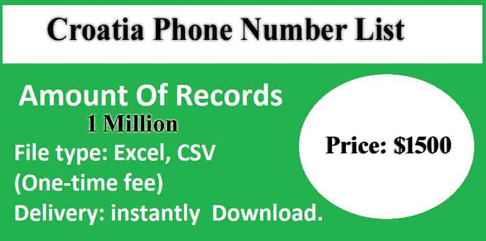Croatia Phone Number List copy