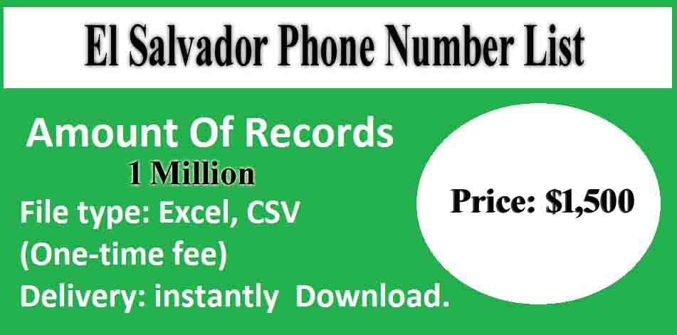 El Salvador Phone Number List