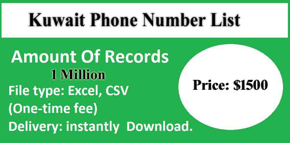 Kuwait Phone Number List