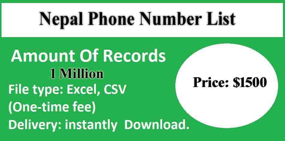 Nepal Phone Number List