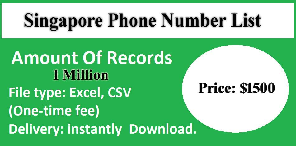 Singapore Phone Number List