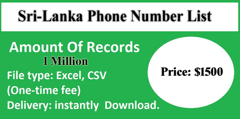 Sri-Lanka Phone Number List