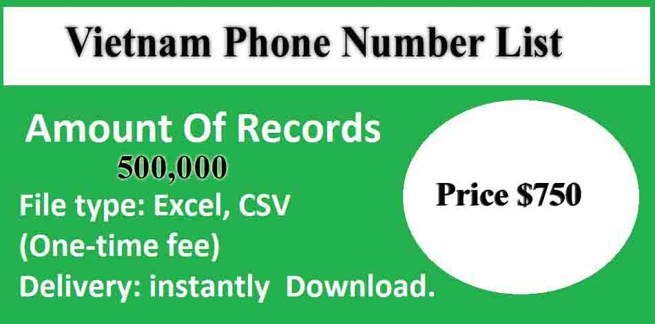 Vietnam Phone Number List
