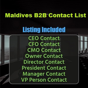 Maldives B2B List