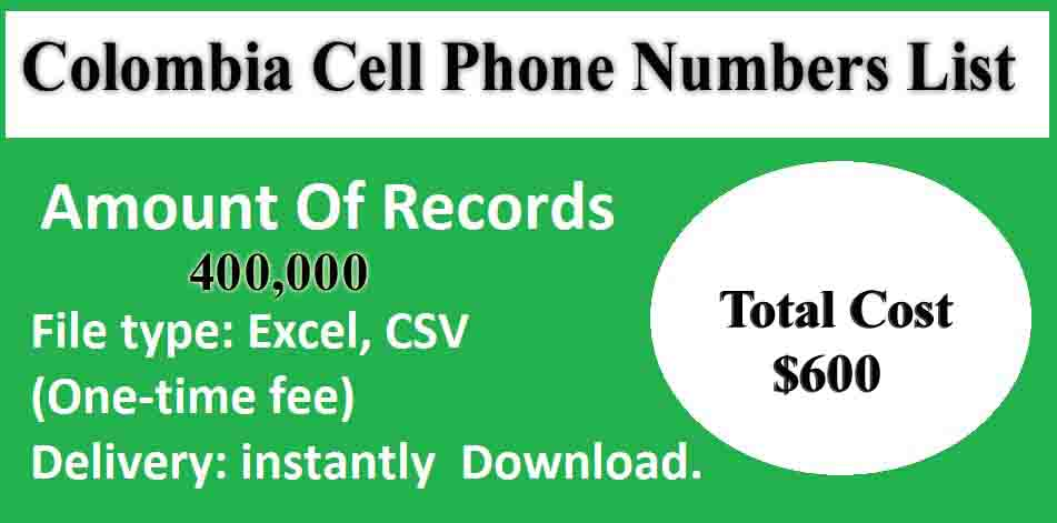 Colombia Cell Phone Numbers List
